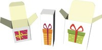 Gift boxes with plug-in lids