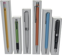 Folding cartons for pens and pens